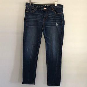INC Denim Skinny Leg Distressed jeans sz 12